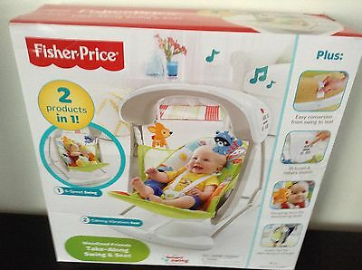 Fisher-Price Woodland Friends Take-Along Baby Swing boxed