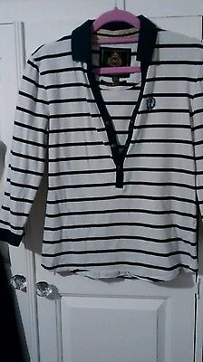 toggi lilly long sleeved blue striped top