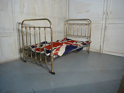 Superb Quality Victorian Brass Single Bed, Free delivery