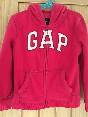Girls Gap Fleece Hoodie Age 6-7yrs