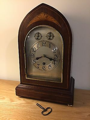 Beautiful Westminster Chime Clock - German Mantel Clock By PHS - with key
