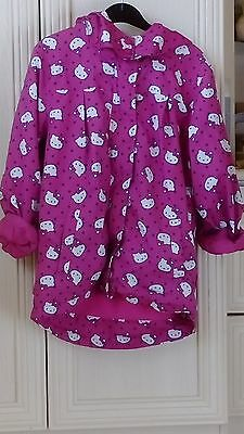 Girls Hello kitty Zip Up Hooded Jacket Age 7-8 Years