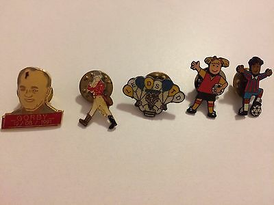 Football Various Corby Leeds United  Admiral Vintage Collectable Pin Badges