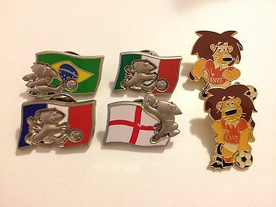 Rugby 1990's Pin Badges Country Flags Plus Lions with KNVB  Football Vintage x6