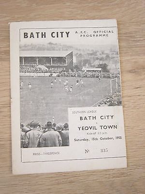 1955/56 Bath City V Yeovil Town