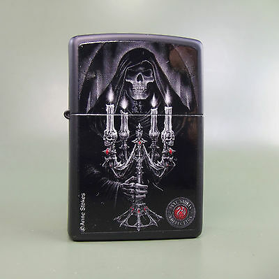 Zippo Anne Stokes Collection 4 Black Matte - Zippo 28857, a Deaths Light design