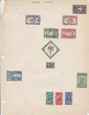 Costa Rica /  Hinged On Page - C