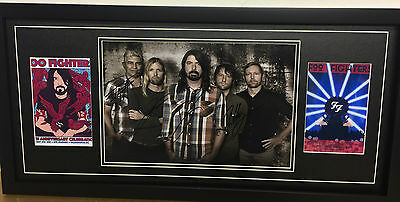 Foo Fighters Hand Signed/Autographed Photograph with a COA