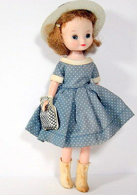 "1950s Fashion doll 8"" BETSY MCCALL Beauty with ORIGINAL OUTFIT matching hat/purs"