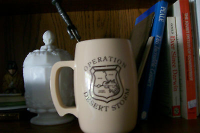 Desert Storm coffee cup and Sword letter opener.
