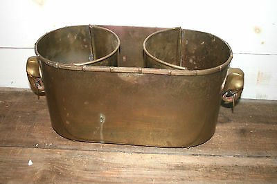 Vintage Double Wine Cooler Ice Bucket Champagne Chiller Cooler Brass Elephant