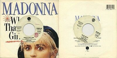 MADONNA Who's that girl – die cut PS ITALY JB promo