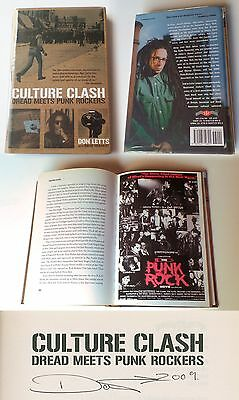 DON LETTS - Culture Clash hardcover SIGNED COPY 1st pres. punk reggae