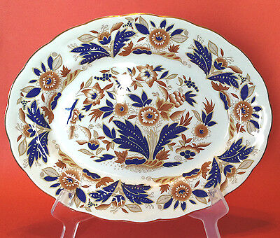 Booths Dovedale 12 Inch Serving Platter - Cobalt Blue And Brown