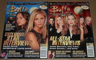 Lot of 2 BUFFY The Vampire Slayer OFFICIAL 2002 2003 YEARBOOKS Magazine