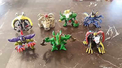 Digimon Bandai Mini Figure Lot OF 7 Some Extremely Rare LOOK