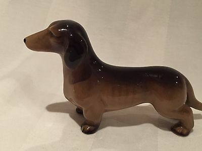 W.R Midwinter Vintage Dachshund Dog Figurine Burslem Pottery