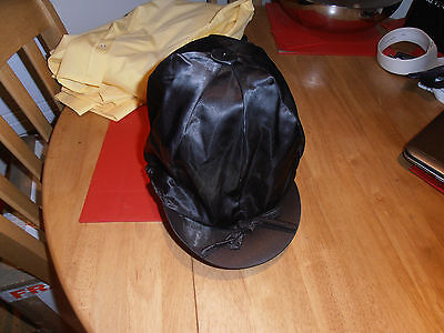 Black Satin Riding Hat Cover by The Gate House Range One Size