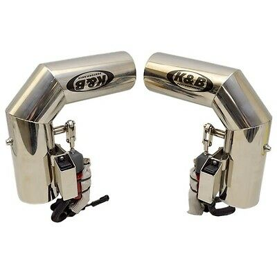 Chaparral Boats K&B Performance SS Marine Boat Electric Exhaust Diverter Pair