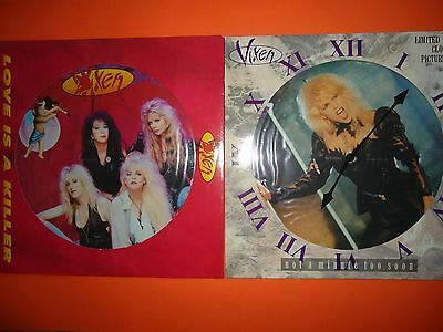 """Vixen - Love Is A Killer / Not A Minute Too Soon - 12"""" Picture Discs"""