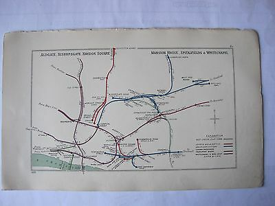 1939 RAILWAY CLEARING HOUSE Junction Diagrams.LIVERPOOL STREET AREA.