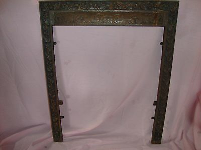 Victorian Cast Iron FIREPLACE SURROUND Architectural Salvage Frame