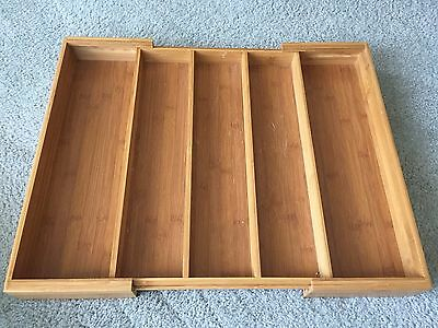 Expandable Bamboo Utensil Tray / Drawer Organizer 18x13 to 22""