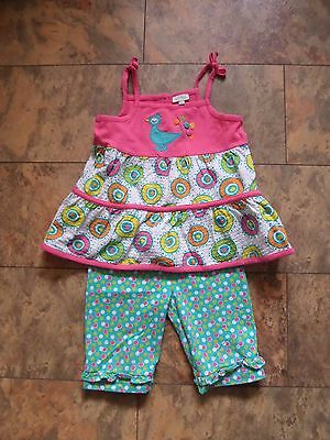 BEAUTIFUL Girl's DESIGNER Outfit by Le Top Age 3 Strappy Top & Bottoms BRIGHT!!