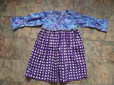 FABULOUS!! Girl's DESIGNER Dress by YOUNG COLORS Age 4 Purple FAB & FUNKY!!