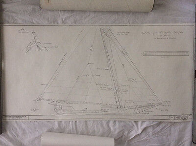 Smithsonian HAMMS Ship Blue print - CANNON, SLOOP