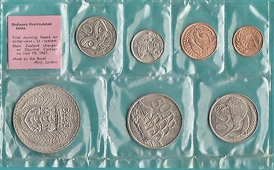 The New Zealand 1967 Coins Set  In Plastic .