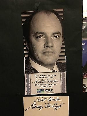George Di Cenzo hand signed autograph of actor