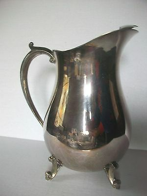 Vintage EALES 1779 Silverplate Footed WATER PITCHER With ICE GUARD