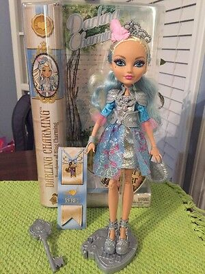 Ever After High Doll Darling Charming! Comes With Stand & Box!
