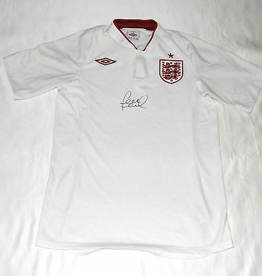 England Football Shirt Autographed By Frank Lampard with COA