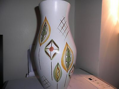 Vintage 1950s Brentleigh Ware Salcombe Made in England Tall Vase