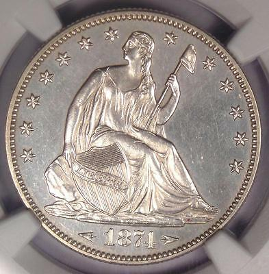 1874 PROOF Arrows Seated Liberty Half Dollar 50C Coin - NGC Proof Detail (PF/PR)