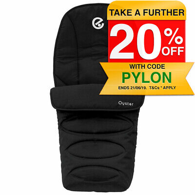 Oyster Footmuff Baby/Newborn/Infant Sleeping Bag/Cover for Stroller/Pram Black