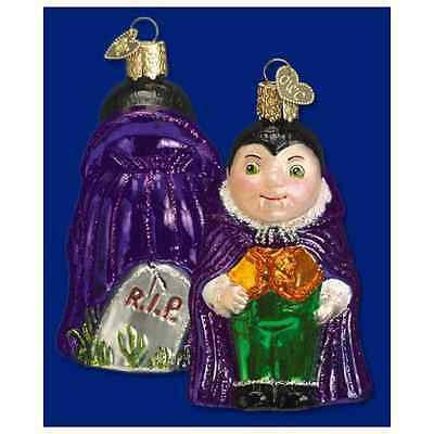 LIL DRACULA Vampire with Tombstone Halloween Ornament Old World Christmas
