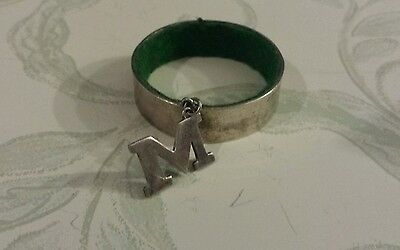 Sterling Silver M Napkin Ring - ON SALE