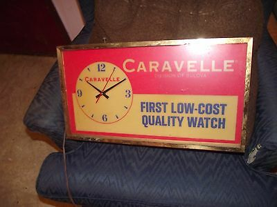 Vintage Caravelle Quality Watch Advertising Clock