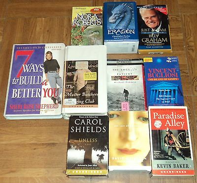 "FICTION / NON-FICTION ""AUDIO BOOKS"" ON CASSETTE TAPES - Lot of 10"