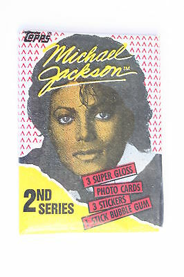 @ 1984 Michael Jackson Topps rare 2nd Series photo cards unopened pack FREE POST