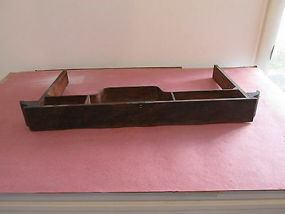 Antique Oak Singer Treadle Sewing Machine Center Middle Pull Out Drawer