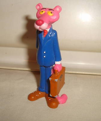Pink Panther Blue Business Suit With Briefcase Vintage Pvc Figure Rare Htf