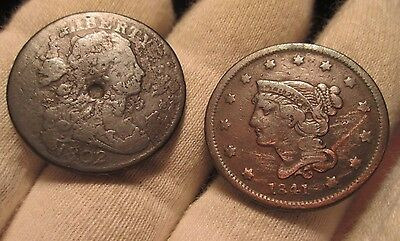1802 and 1841 Large Cents