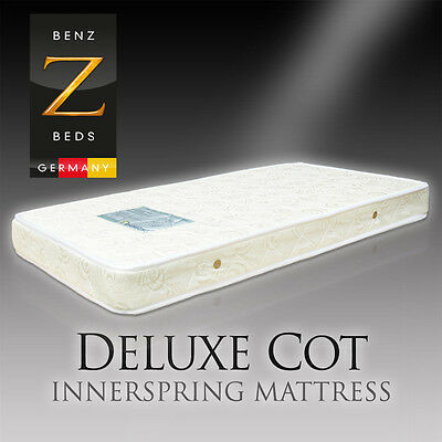 Luxury COT BABY CRIB Mattress Innerspring with Top and Bottom Quilting