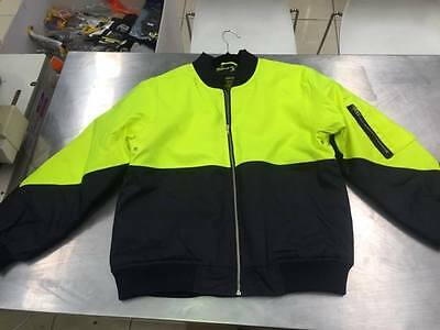 Hi Vis Flying Jacket yellow/Navy (Size Large only)