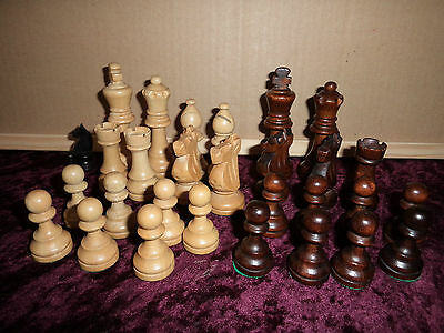 Mixed Lot (30) WOODEN CHESS PIECES oddments