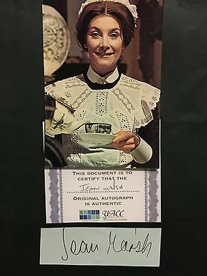 Jean Marsh hand signed autograph of actress